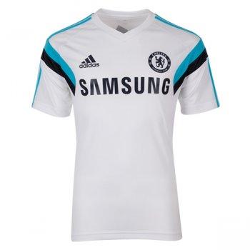 Adidas Chelsea 14/15 Training S/S Jersey WHT/BU F84115