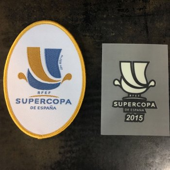 Spanish Supercopa 2015 Badge ( Athletic Club Bilbao vs FC Barcelona)