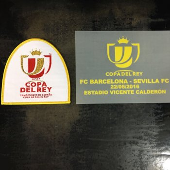 Spanish Copa Delrey 15/16 Final Date Badge Sevilla VS FC Barcelona