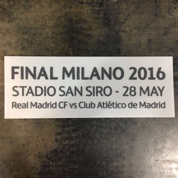 UEFA Champions League 15/16 Atletico Madrid VS Real Madrid Final Date Badge