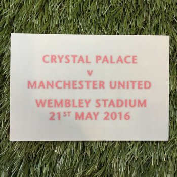 Manchester United 2015 FA Cup Final Date Badge