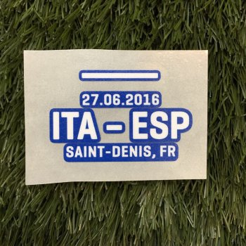 UEFA Euro 2016 Rounds of 16 Italy VS Spain Badge Date