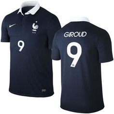 Nike National Team 2014 World Cup France (H)  577926-410 S/S (With Nameset)
