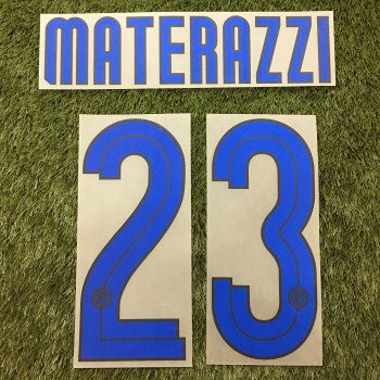 Inter Milan 07/08 (A) Letters and Numbers