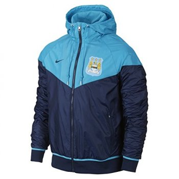 Nike Manchester City 15/16 Windrunner Authentic Jacket BU/NVY 693087-432