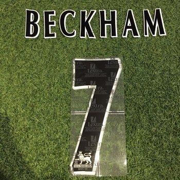 Manchester United 1997-2007 Official Lextra Nameset - BECKHAM #7