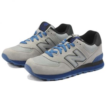 New Balance Sole Pack Neon Grey Blue Black Mesh Suede ML574GKY