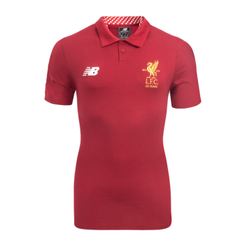 New Balance Liverpool  17/18 Elite Media Motion Polo Red  MT730378