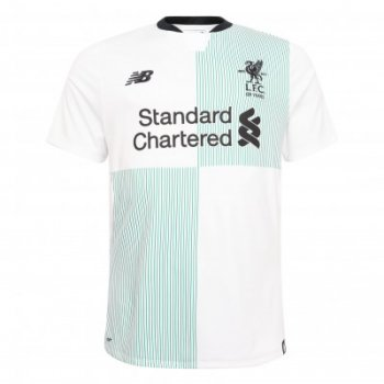 New Balance Junior Liverpool 17/18 (A)  Jersey - White JT730015