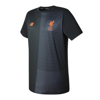 New Balance Liverpool 17/18 Elite Training Pre-Match Tee Shirt - Black MT730173