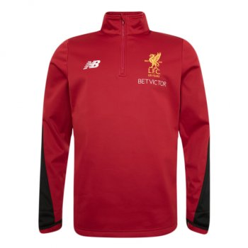 New Balance Liverpool 17/18 Elite Training  1/2 Zip Jacket - Red MT730202