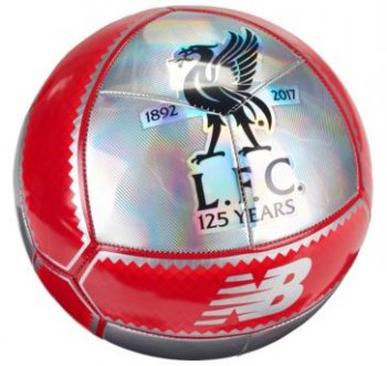 New Balance Liverpool 17/18 125th Anniversary Mini Soccer Ball - Silver LFLANMI7