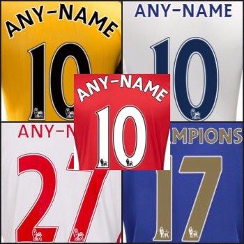 英格蘭足球超級聯賽 2013 - 2017 球季 球員版印字(PS-Pro)