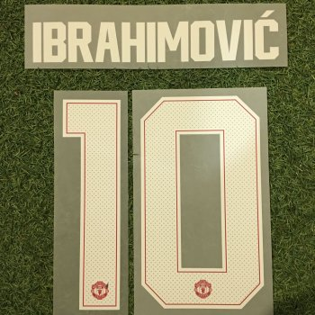 Manchester United 17/18 (H) Letters and Numbers