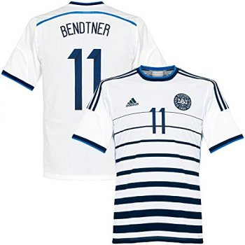 Adidas National Team 2014 World Cup Denmark (A) S/S D86146 With Nameset