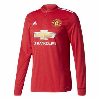 Adidas Manchester United 17/18 (H) L/S Men's Jersey  AZ7586