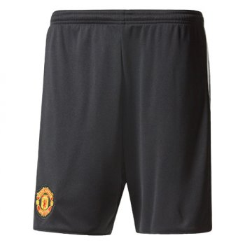 Adidas Manchester United 17/18 (H) Men's Home Change Shorts (Black) BQ3741