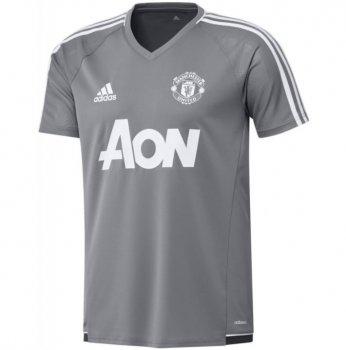 Adidas Manchester United 17/18 Training Shirt (Grey) BS4444