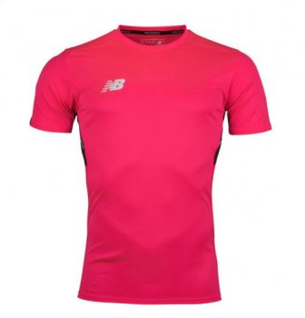 New Balance Elite Motion Tech S/S Training T-Shirt - Alpha Pink MT732024