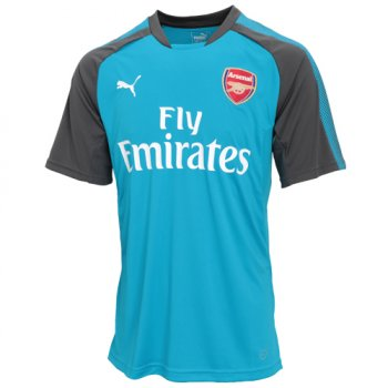 Puma Arsenal FC 17/18 Training Jersey with Sponsor Blue Danube-Dark Shadow 751711-02
