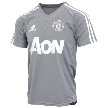 Adidas Manchester United 17/18 Mens Training Shirt (Grey) BS4436