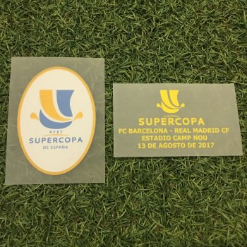 SUPERCOPA FCB 17/18 BADGE WITH (13/8 or 16/8 ) DATE