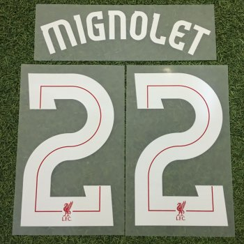 Liverpool 10/18 GK Letters and Numbers