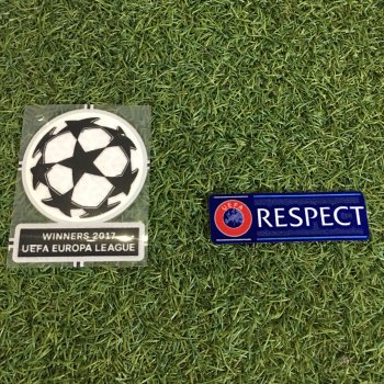 UCL 2017 EUROPA 16/17 WINNER BADGE + RESPECT (Manchester United)