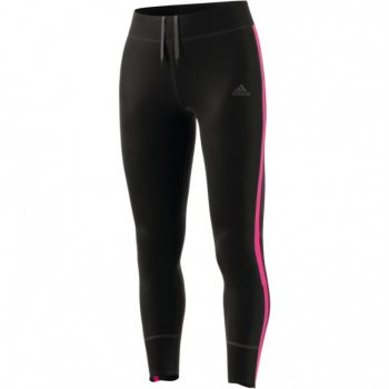Adidas Women's Response Long Tights - Black/Shock Pink BR2458