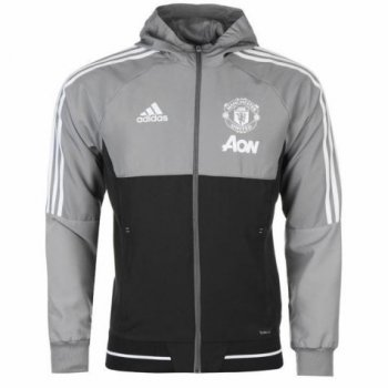 Adidas MUFC 17/18 Presentation Jacket - Grey BS4378