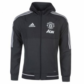 Adidas MUFC 17/18 Presentation Jacket - Night Grey BS4381