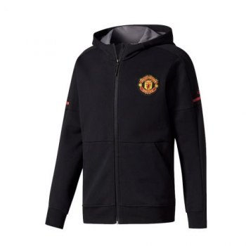 Adidas MUFC 17/18 Anthem Jacket - Black BQ2234