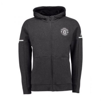 Adidas MUFC 17/18 Anthem Jacket - Dark Grey BQ2259