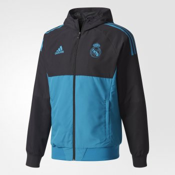 Adidas Real Madrid 17/18 UCL Presentation Jacket - Black BQ7829