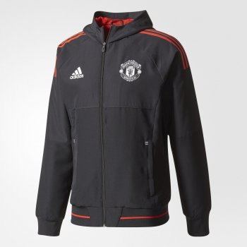 Adidas Manchester United 17/18 Presentation Jacket - Black BS4304