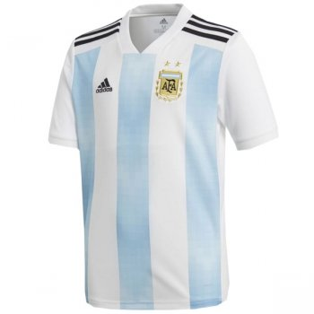 Adidas National Team 2018 World Cup Argentina (H) S/S Kids Jersey BQ9288