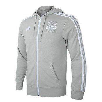 Adidas National Team 2018 Germany 3-Stripe Jacket - Grey CF2463
