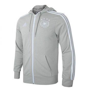 Adidas National Team 2018 Germany 3-Stripe Jacket - Grey CF2463