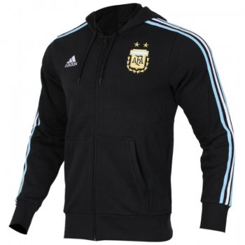 Adidas National Team 2018 Argentina 3-Stripe Jacket - Black CE6658