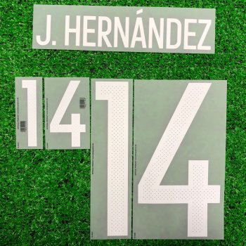 2016 Mexico National Team (H) Letters and Numbers