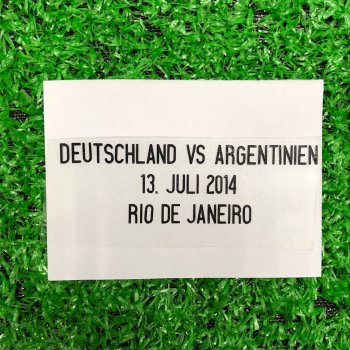 FIFA 2014 WORLD CUP FINAL GER VS ARG  Date