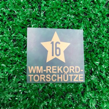 Klose 16 Goals in World Cup 2002-2014 STAR Badge