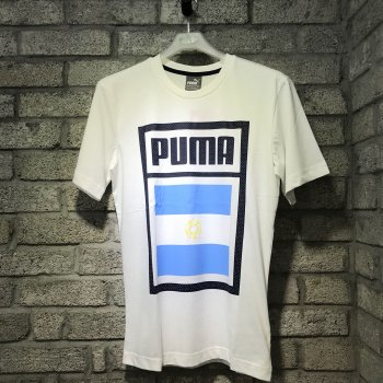 Puma Forever Football Country Cotton Tee Argentina 752649-05