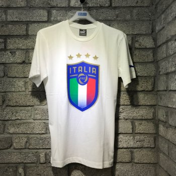 Puma FIGC Italia Badge Tee - White 752613-02