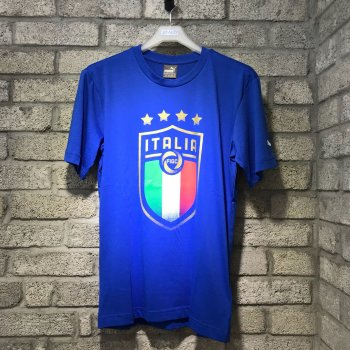 Puma FIGC Italia Badge Tee - Blue 752613-01