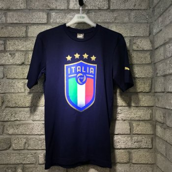 Puma FIGC Italia Badge Tee - Peacoat 752613-10