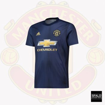 Man Utd 18/19 (3rd) S/S Jersey DP6022 w/ Club Nameset