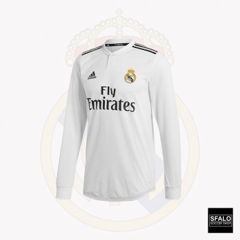 Adidas Real Madrid 18/19 (H) Authentic L/S Jersey DQ0869
