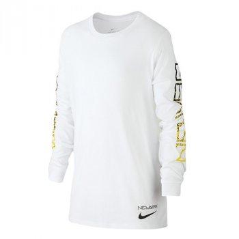 Nike NYR B NK DRY LS TEE WHITE 924385-100