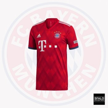 Adidas Bayern Munich 18/19 (H) S/S Jersey CF5433 with Player Nameset